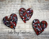 Red heart glass mosaic