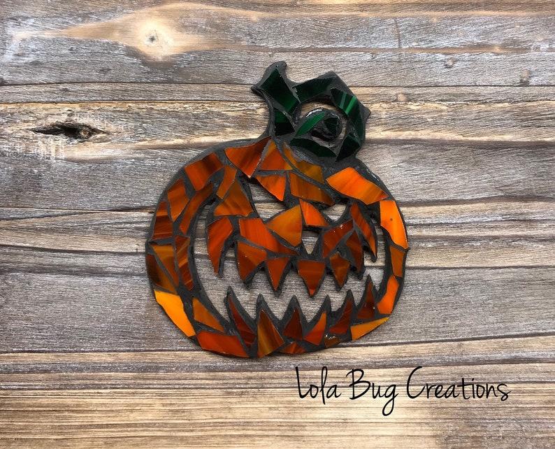 Pumpkin glass mosaic image 0