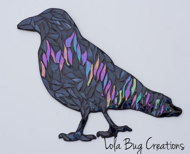 Northern Lights Raven Glass Mosaic image 0