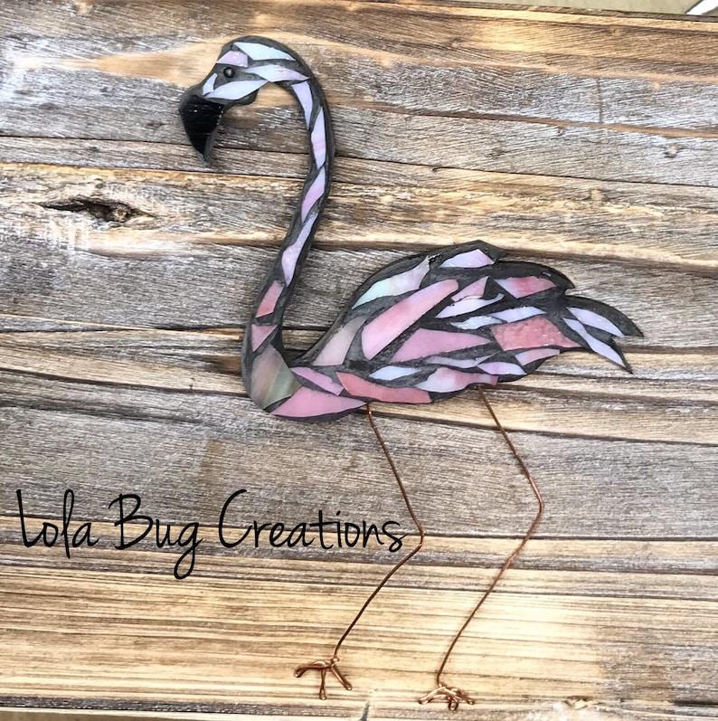 Flamingo glass Mosaic image 0