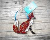 Sitting Fox glass mosaic