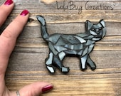 Cat glass mosaic