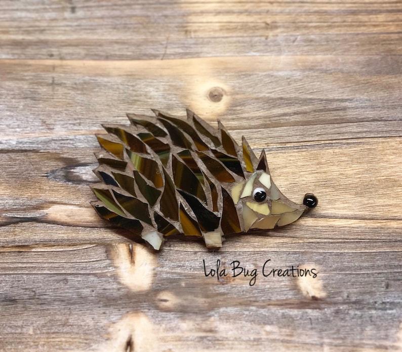 Hedgehog glass Mosaic image 0
