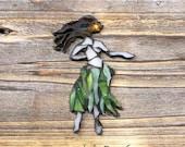 Hula Girl glass Mosaic