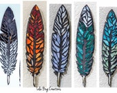 Feather glass mosaic