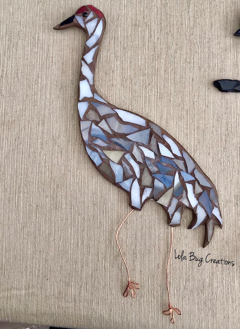 Sandhill Crane glass Mosaic image 0