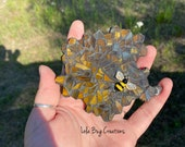 Honeycomb with Bee Glass mosaic