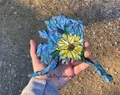 Sunflower Alaska mosaic glass