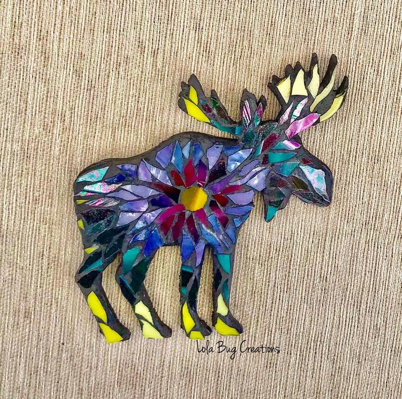 Tiedye moose glass Mosaic image 0