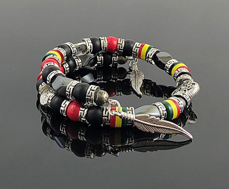 Memory Wire Bracelet Jamaican Jewelry Jamaican Bracelet Caribbean Jewelry