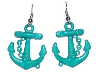 Anchor Nautical Earrings ~ Beach Summer