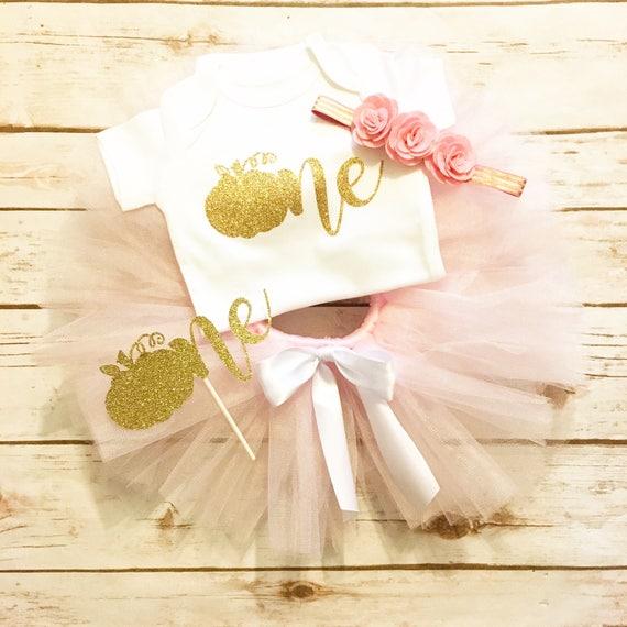 2a2305b7fe0 First Birthday Outfit Girl - Pumpkin Birthday - Pink and Gold - Pumpkin  First Birthday - Little Pumpkin - 1st Birthday Outfit Fall