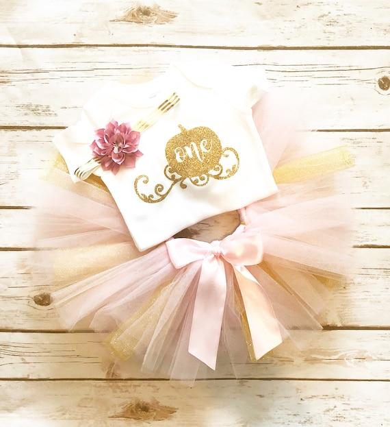 54d97236f56 Pumpkin First Birthday Outfit Girl - Pink and Gold - Pumpkin Birthday Outfit  - Fall Birthday - 1st Birthday Outfit Girl - Halloween Birthday