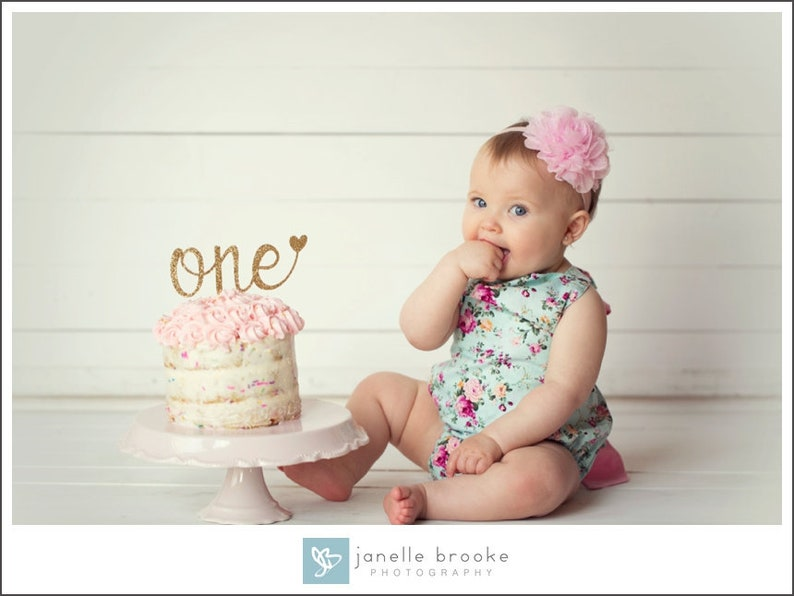 One Cake Topper Smash Cake Topper First Birthday Cake image 0