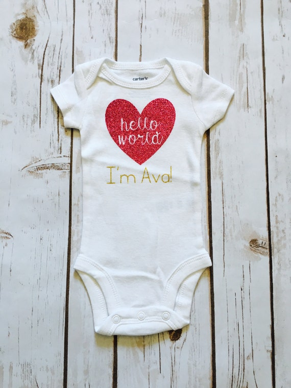 38f43db64 Baby Girl Coming Home Outfit - Hello World Outfit - Newborn Tutu ...