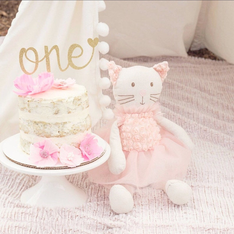 One Cake Topper First Birthday Girl 1st
