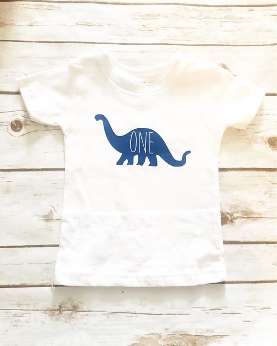First Birthday Boy Shirt Dinosaur