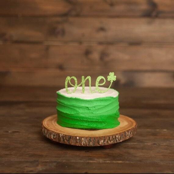 Sensational One Cake Topper First Birthday Girl Cake Topper Shamrock Etsy Birthday Cards Printable Trancafe Filternl
