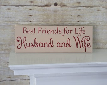 Best Friends for Life Husband and Wife - Valentine's Gift for Wife or Husband - Valentines Day Gift for Her - Valentines Day Gift for Him