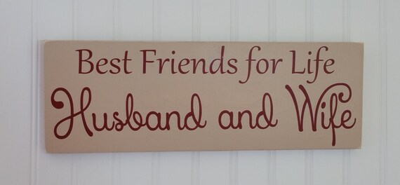 Best Friends For Life Husband And Wife Valentines Gift Etsy