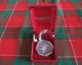 1988 Waterford Crystal Snowflake Ornament in Original Box Bag with Seahorse - Wonderful 2 quot - Rare