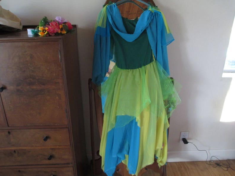 Wings Yellow- Lime Wreaths Flowers Fairy Costumes Chiffon LOOK at our other 5 Fairy Costumes! Wonderful Turquoise