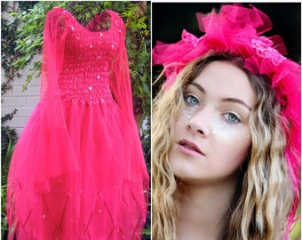 Adult Halloween Fairy  Costume ~  Tulle Garland ~  Bachelorette party ~ Theatre ~ Medieval ~ Gothic ~ Bohemian ~ Cosplay