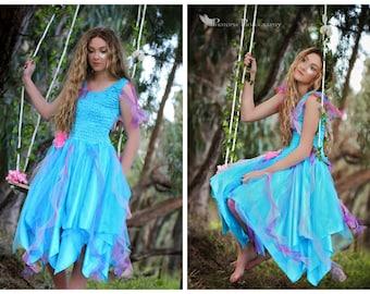 Adult Fairy Plus Size Turquoise Festival Costume ~ Woman's Carnival Fairy Dress ~ Halloween Costume ~ Renaissance