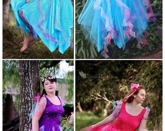 Adult  Plus Size Fairy Costume ~Mardi Gras   ~ Woman's Party Fancy Dress ~ Theatre Productions
