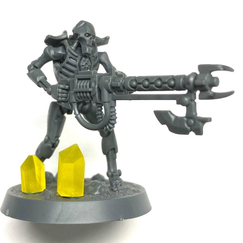 x32 Custom Made Parts Warhammer 40K Necron Yellow Crystals