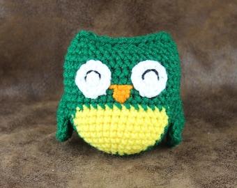 Lil' Owl - crochet, small owl stuffed toy