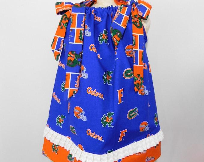 BOUTIQUE PILLOWCASE DRESS / Florida Gator Print