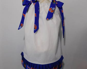 BOUTIQUE PILLOWCASE DRESS / Florida Gator White