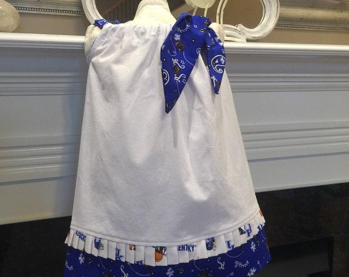 BOUTIQUE PILLOWCASE DRESS / Kentucky Blue