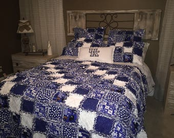 RAG QUILT BEDDING - Full / Queen / King Sizes - Customized Fabrics to your specifications!