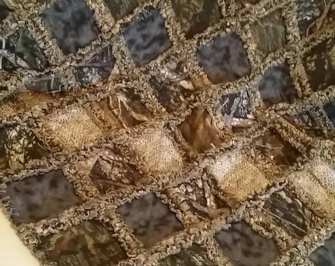 CAMOFLAGE RAG QUILT - Choice of Sizes