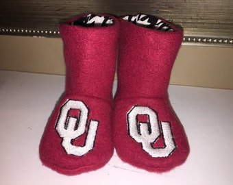 Oklahoma Sooners/ OU -  Baby Boots
