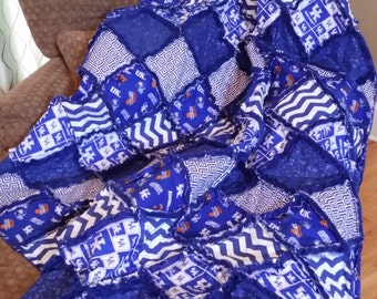 UNIVERSITY OF KENTUCKY Rag Quilt / Throw (Choice of Sizes)