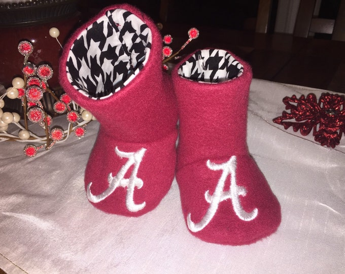 ALABAMA / ROLL TIDE  Baby Boots