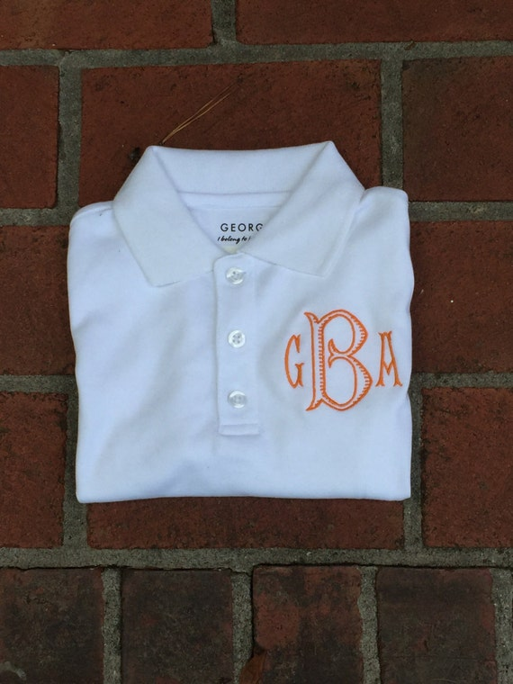 Boys Monogrammed Polo Youth Personalized Polo Shirt Short Etsy