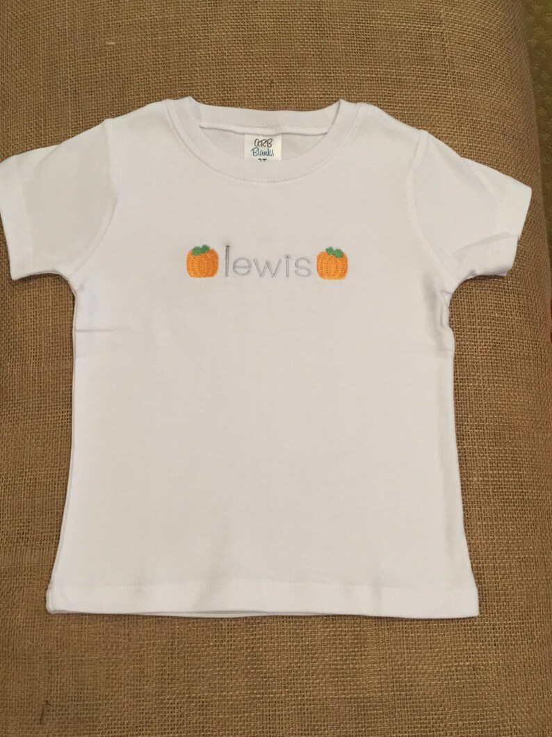 58a19bccd02 Boy s personalized pumpkin shirt boy monogram Halloween