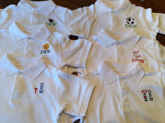 Boy S Monogrammed Polo Personalized Toddler Polo Polo Etsy