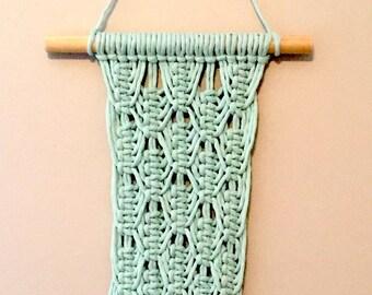 Mint Macrame Wall Hanging