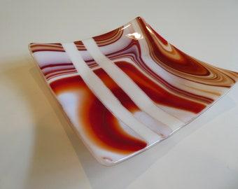 "8.5""x8.5"" plate - Melting sunset"
