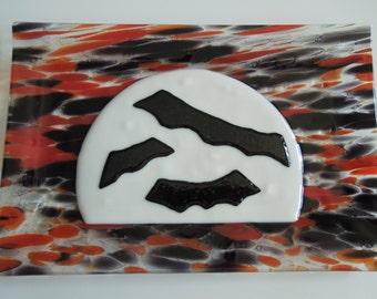 """12""""x8"""" Platter - Full Moon on Halloween"""