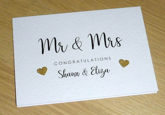 Personalised Handmade Wedding Day Card Mr /& Mrs Bride Mrs /& Mrs Wife To Be