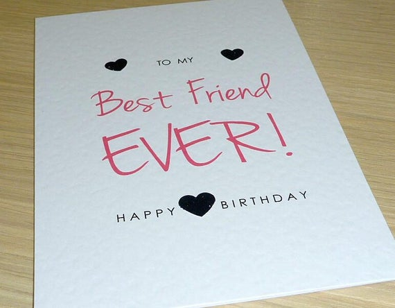 Female Happy Birthday Card Teenage Girl Best Friend Ever Etsy