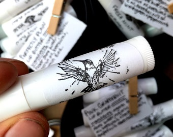 Handmade Natural Lip Butter Tubes with Organic Ingredients 4 Flavors