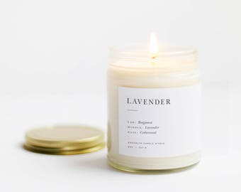 Lavender Minimalist Soy Candle