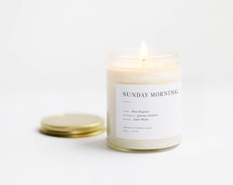 Sunday Morning Minimalist Soy Candle